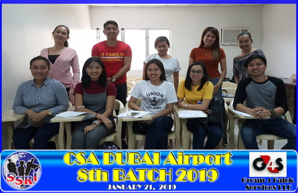 CSA 2019 -8th BATCH